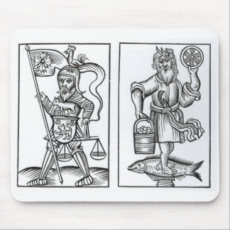 Hermensul or Irmensul (left) and Crodon (right) id Mouse Pad
