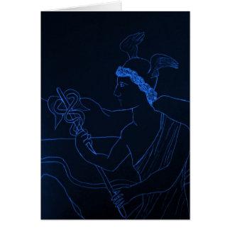 Hermes - dios del mensajero tarjeta de felicitación
