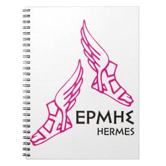 Hermes / Ermis - One of the 12 Greek Gods Spiral Note Book