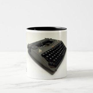 Hermes Featherweight typewriter Two-Tone Coffee Mug