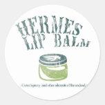Hermes Lip Balm Round Sticker