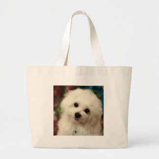 Hermes the Maltese Large Tote Bag
