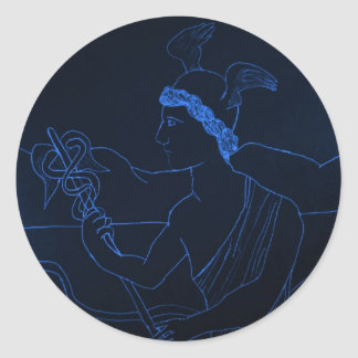 Hermes - The Messenger God Classic Round Sticker