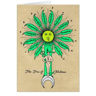 Hermes Tree of Alchemy Greeting Card