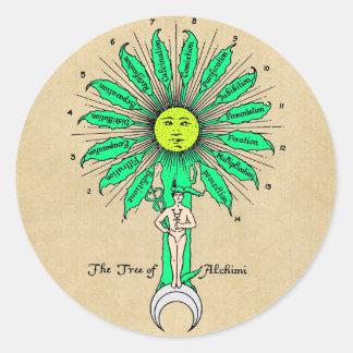 Hermes Tree of Alchemy Classic Round Sticker