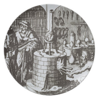 Hermetic Philosophers and an Alchemist, from 'Muse Melamine Plate