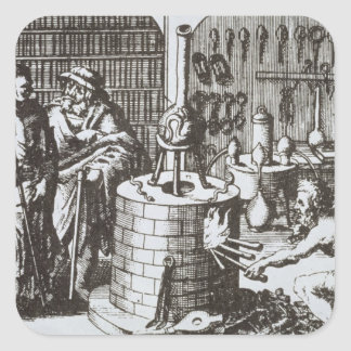 Hermetic Philosophers and an Alchemist, from 'Muse Stickers