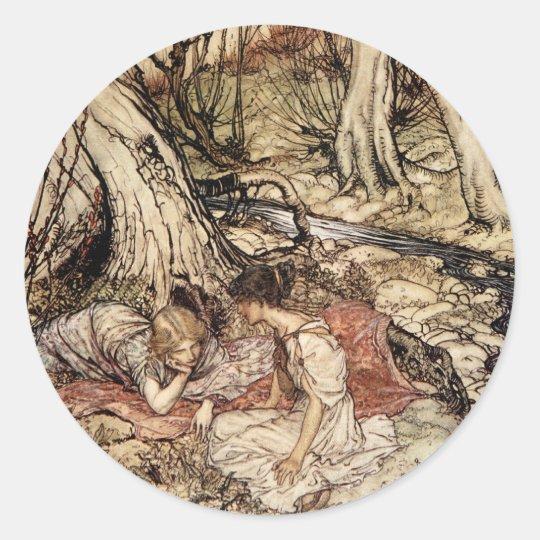 Hermia and Lysander Classic Round Sticker