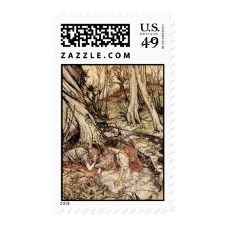 Hermia and Lysander Postage Stamps