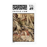 Hermia and Lysander Postage Stamp