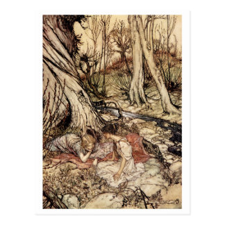 Hermia and Lysander Postcard