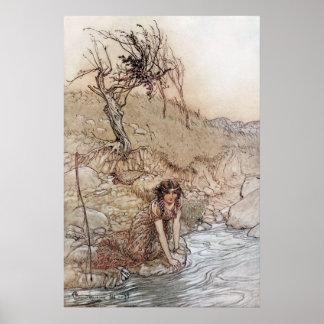 Hermia por la corriente poster