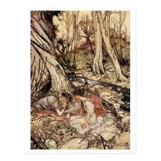 Hermia y Lysander Postal