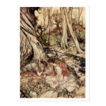 Hermia y Lysander Tarjetas Postales