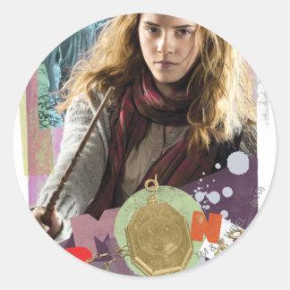 Hermione 14 round stickers
