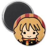 Hermione Granger Cartoon Character Art 2 Inch Round Magnet