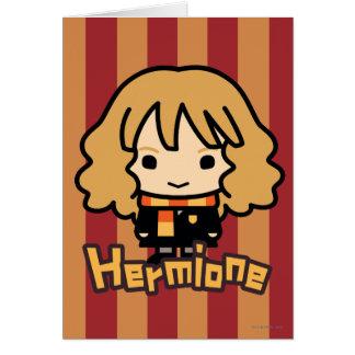 Hermione Granger Cartoon Character Art Card