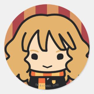 Hermione Granger Cartoon Character Art Classic Round Sticker
