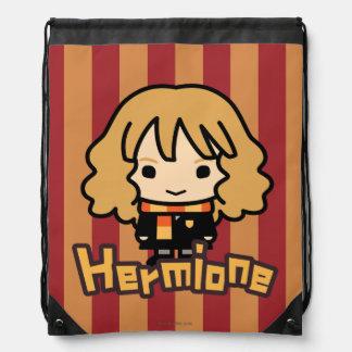 Hermione Granger Cartoon Character Art Drawstring Backpack