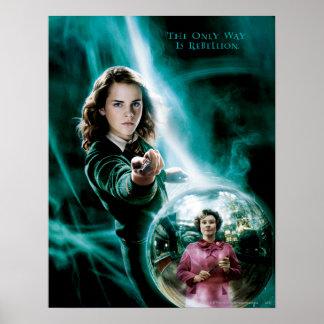 Hermione Granger y profesor Umbridge Poster