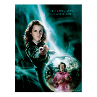 Hermione Granger y profesor Umbridge Tarjeta Postal