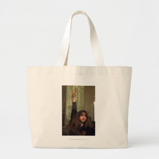 Hermione raises her hand large tote bag