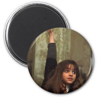 Hermione raises her hand 2 inch round magnet