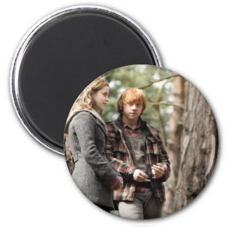 Hermione, Ron, and Harry 2 2 Inch Round Magnet