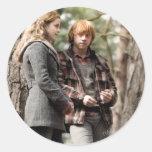 Hermione, Ron, and Harry 2 Round Sticker