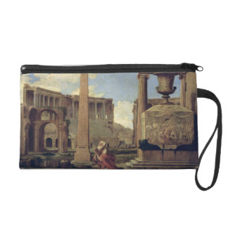 Hermit among the Ruins Wristlet Purses