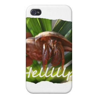 Hermit Crab and Help text , funny animal design iPhone 4/4S Cover