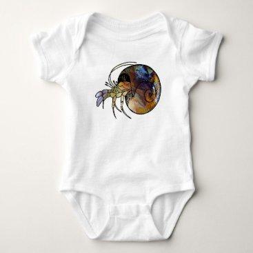 Beach Themed Hermit Crab Baby Bodysuit