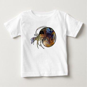 Beach Themed Hermit Crab Baby T-Shirt