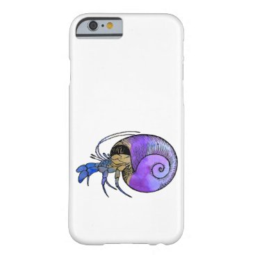 Beach Themed Hermit Crab Barely There iPhone 6 Case