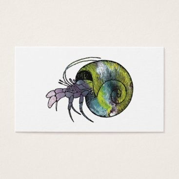 Beach Themed Hermit Crab Business Card