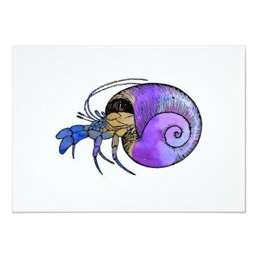 Beach Themed Hermit Crab Card