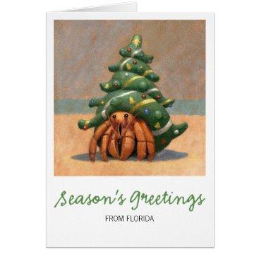 Christmas Themed Hermit Crab Christmas Card
