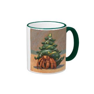Hermit Crab Christmas mug