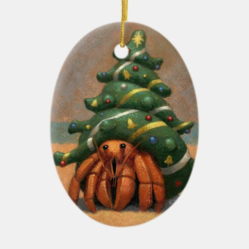 Hermit Crab Christmas Ornament