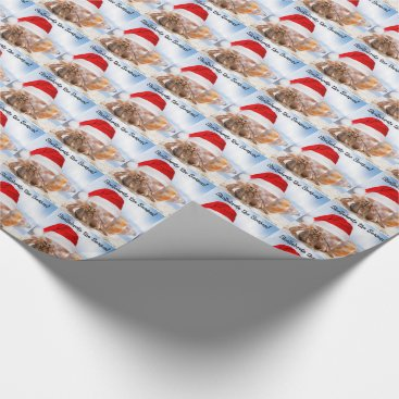 Christmas Themed Hermit Crab Christmas Small Wrapping Paper