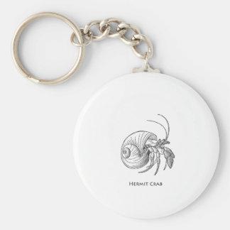 Hermit Crab Illustration (line art) Basic Round Button Keychain