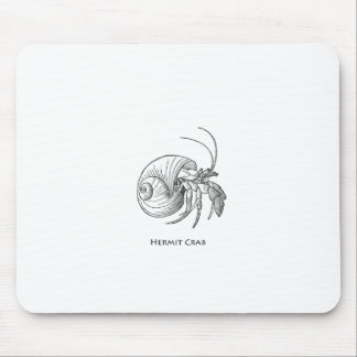 Hermit Crab Illustration (line art) Mouse Pad