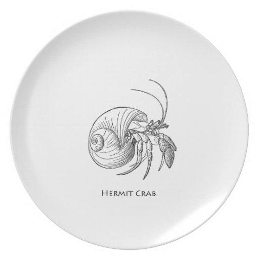 Hermit Crab Illustration (line art) Plates