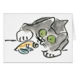 Hermit Crab & Kitty Greeting Card