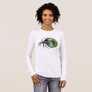 Beach Themed Hermit Crab Long Sleeve T-Shirt