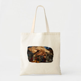 Hermit Crab on Ice Cubes Canvas Bags