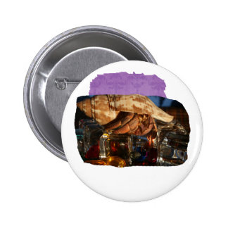 Hermit Crab on Ice Cubes Button