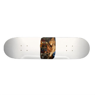 Hermit Crab on Ice Cubes Skateboard Deck