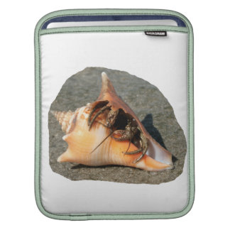 Hermit Crab on Sand Coming out of shell iPad Sleeves