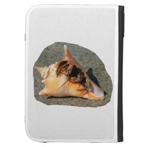 Hermit Crab on Sand Coming out of shell Kindle 3G Case